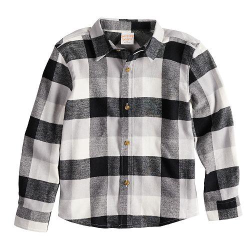 Boys 4-12 Jumping Beans® Flannel Plaid Button Down Shirt