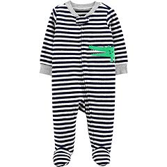Baby Boy Carter's Terry Crocodile Striped Sleep & Play