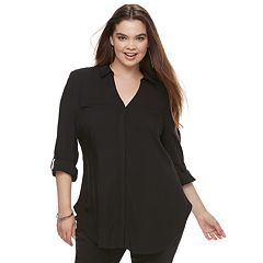 Juniors' Plus Size Candie's® Tie Front Tunic