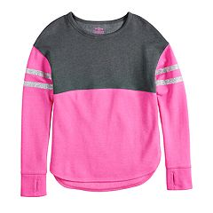 Girls 7-16 & Plus Size SO® Colorblock Fleece Crew Pullover