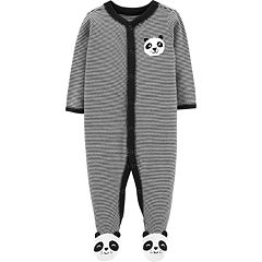 Baby Boy Carter's Panda Bear Striped Sleep & Play