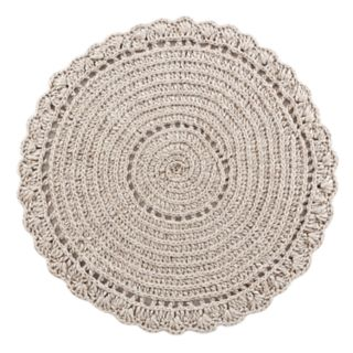 VCNY Home Crochet Solid Wool Blend Rug - 3' Round