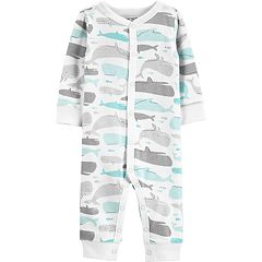 Baby Boy Carter's Whale Print Coveralls