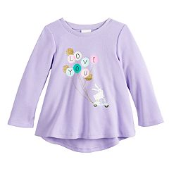 Baby Girl Jumping Beans® Graphic High-Low Thermal Tunic