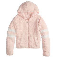 Girls 7-16 & Plus Size SO® Varsity Sherpa Hooded Jacket