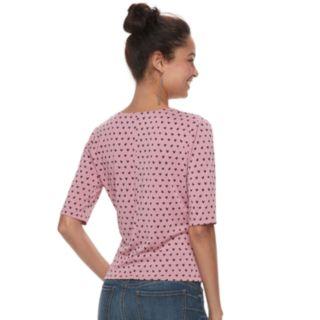 Juniors' Candie's® Wrap Elbow Sleeve Top