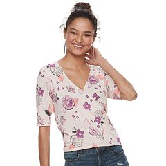 Juniors' Candie's® Wrap Elbow Sleeve Top