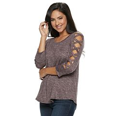 Women's Jennifer Lopez Strappy-Sleeve Top