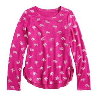 Girls 7-16 & Plus Size Mudd® Cozy Tulip Hem Top
