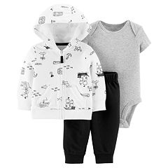 Baby Boy Carter's Sailboat Hoodie, Bodysuit & French Terry Pants Set