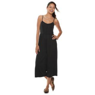 Juniors' Mudd® Cupro Culotte Jumpsuit