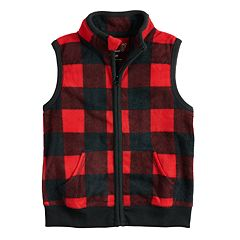 Baby Boy Jumping Beans® Microfleece Checked Vest