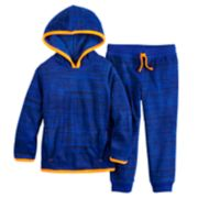 Toddler Boy Jumping Beans® Microfleece Pullover Hoodie & Jogger Pants Set