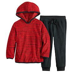 Toddler Boy Jumping Beans® Microfleece Pullover Hoodie & Jogger Pants Set