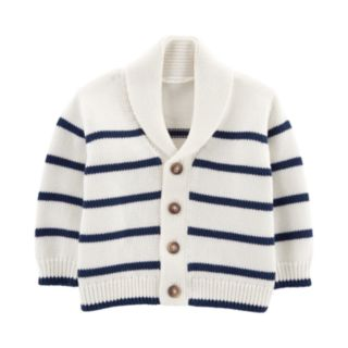 Baby Boy OshKosh B'gosh® Shawl Collar Striped Cardigan Sweater