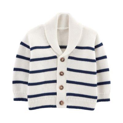 Baby Boy OshKosh B'gosh® Shawl Collar Striped Cardigan Sweater