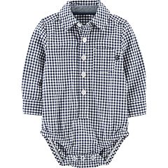 Baby Boy OshKosh B'gosh® Gingham Plaid Button Down Bodysuit