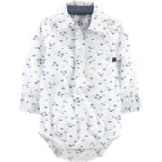 Baby Boy OshKosh B'gosh® Fish Button Down Bodysuit