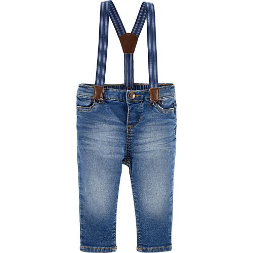 6c9104c43 Baby Boy OshKosh B'gosh® Denim Suspender Jeans
