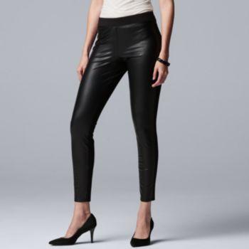 Women's Simply Vera Vera Wang Faux-Leather Leggings