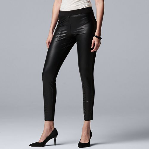 a2591f95d20 Women s Simply Vera Vera Wang Faux-Leather Leggings