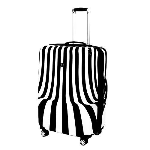 FUL White Swirl Hardside Spinner Luggage