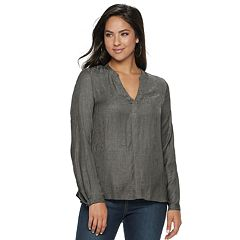 Women's Jennifer Lopez Embellished Popover Top