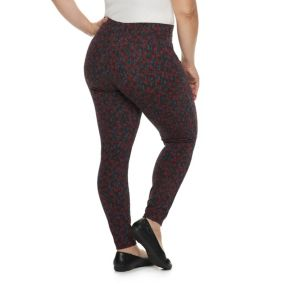 Plus Size Utopia by HUE Wallpaper Thistle Printed Leggings