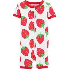 Toddler Girl Carter's Strawberry Romper Pajamas