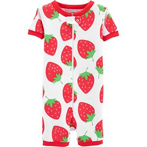 48138a0da0a8 Toddler Girl Carter s Rainbow Romper Pajamas
