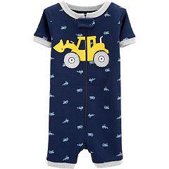 Toddler Boy Carter's Construction Truck Romper Pajamas