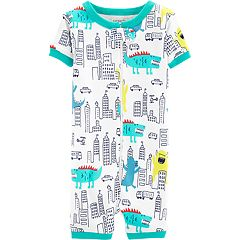 Toddler Boy Carter's Monster & City Romper Pajamas