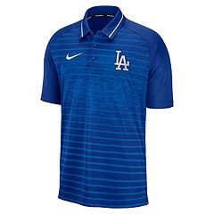 9aea3dcb1 Men's Nike Los Angeles Dodgers Dri-FIT Stripe Polo. Lad Blue