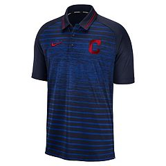 e550773b6b68 Men s Nike Cleveland Indians Dri-FIT Stripe Polo