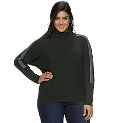 Plus Size Jennifer Lopez Dolman Turtleneck Sweater