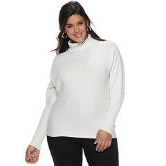 Plus Size Jennifer Lopez Dolman Turtleneck Sweater