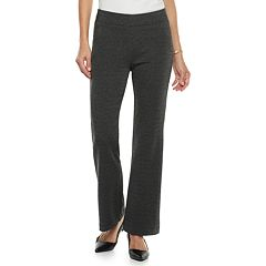 Women's Croft & Barrow Easy Care Pull-On Ponte Pants