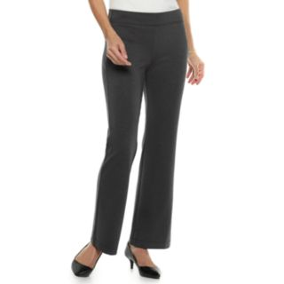 Women's Croft & Barrow Easy Care Pull-On Ponte Bootcut Pants