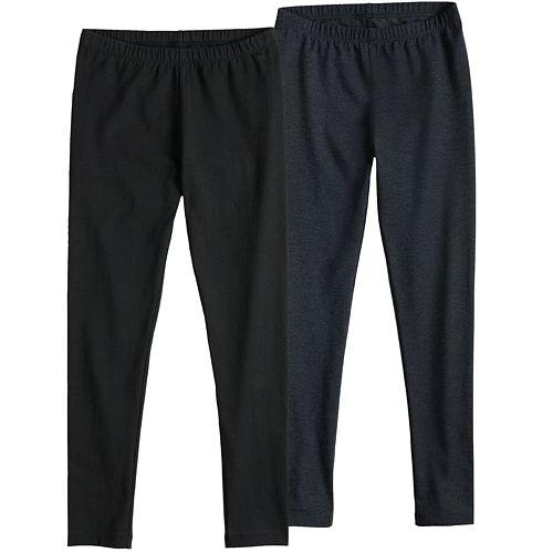 Girls 7-16 SO® 2-Pack Core Athletic Leggings