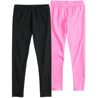 Girls 7-16 SO® 2-Pack Core Athletic Leggings