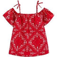 Girls 4-14 OshKosh B'gosh® Bandana Cold-Shoulder Top