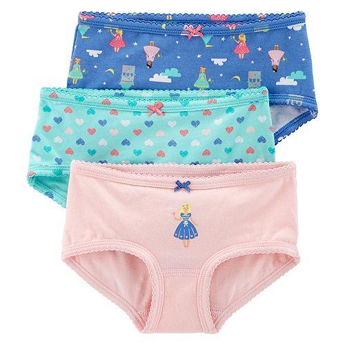 Girls 4-14 Carter's 3-pack Brief Panties