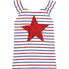 c5825f434d1 Girls 4-14 OshKosh B gosh® Striped Star Flip-Sequin Tank Top