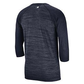 Nike Men's Milwaukee Brewers 3/4 Sleeve Raglan Logo Tee