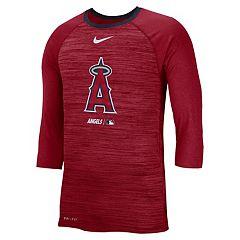 e8874ba9d33 Nike Men s Los Angeles Angels of Anaheim 3 4 Sleeve Raglan Logo Tee