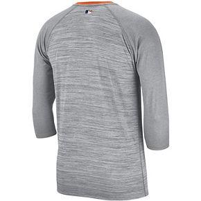 Nike Men's Detroit Tigers 3/4 Sleeve Raglan Logo Tee