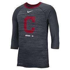 Nike Men's Cleveland Indians 3/4 Sleeve Raglan Logo Tee