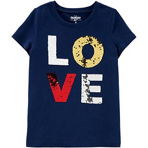 "Girls 4-14 OshKosh B'gosh® ""LOVE"" Flip-Sequin Tee"