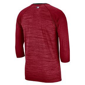 Nike Men's Cincinnati Reds 3/4 Sleeve Raglan Logo Tee