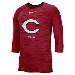 new product c8092 9382f Nike Men s Cincinnati Reds 3 4 Sleeve Raglan Logo Tee